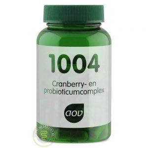 AOV 1004 Cranberry-en Probioticumcomplex Capsules 60st