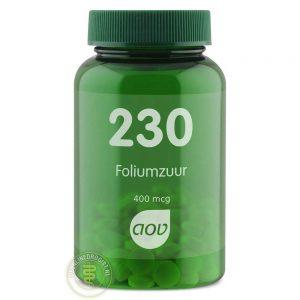 AOV 230 Foliumzuur 400mcg Tabletten 100st