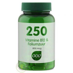 AOV 250 Vitamine B12 & Foliumzuur 60st