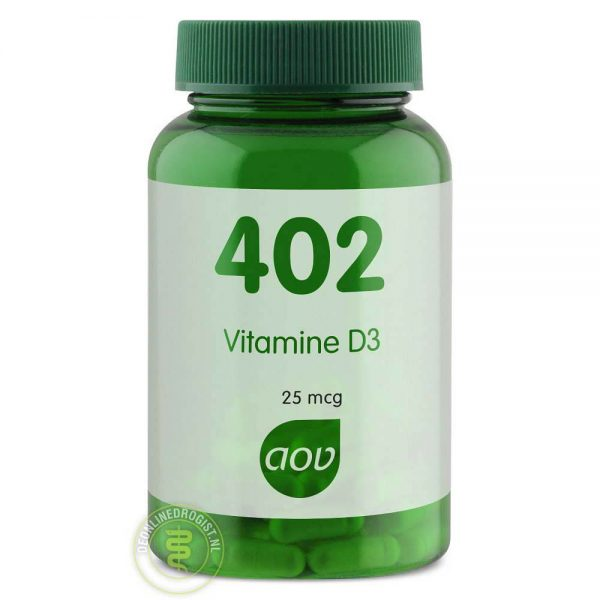 AOV 402 Vitamine D3 25mcg Capsules