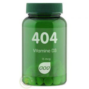AOV 404 Vitamine D3 15mcg Tabletten 60st
