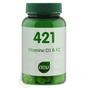 AOV 421 Vitamine D3 & K2 Capsules 60st
