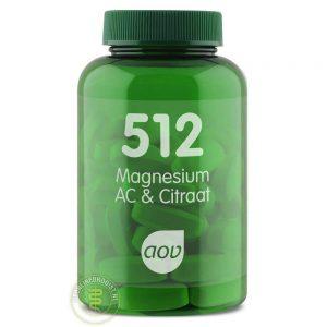 AOV 512 Magnesium AC & Citraat Tabletten 60st