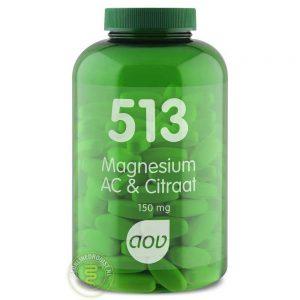 AOV 513 Magnesium AC & Citraat Tabletten 180st