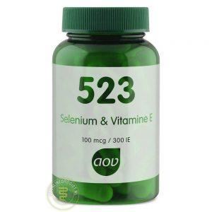 AOV 523 Selenium 100 & Vitamine E300 IE Capsules 60st