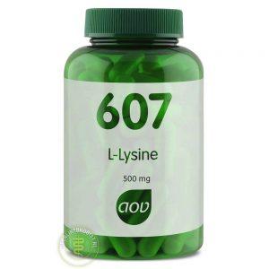 AOV 607 L- Lysine HCl 500mg Capsules 90st