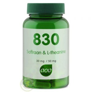 AOV 830 Saffraan & L-Theanine Capsules 30st