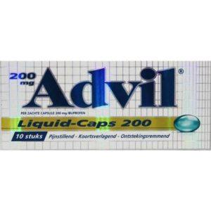 Advil Liquid 200mg 10 st
