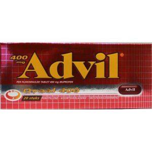 Advil Ovaal Blister Bijstevige Pijn 400mg 20st