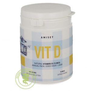 Amiset Vitamine D3 75mcg Tabletten 365st
