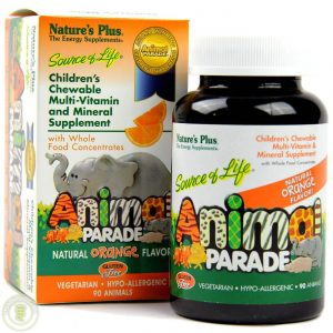 Animal Parade Multi Sinaasappel Kauwtabletten 90st