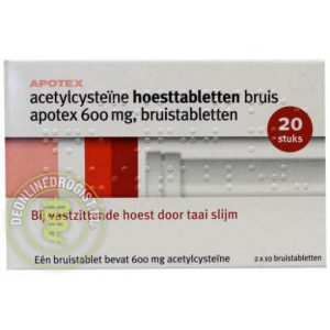 Apotex Acetylcysteine 600mg Bruistabletten 20st