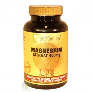 Artelle Magnesium Citraat 400mg Tabletten 100st