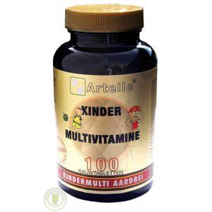 Artelle Multivitamine Kind Aardbei Kauwtabletten 100st