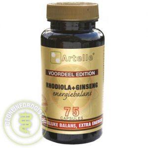 Artelle Rhodiola & Ginseng Energiebalans Capsules