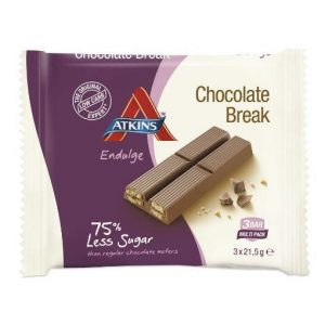 Atkins Endulge Reep Chocolate Break Grootverpakking (14x63gr)
