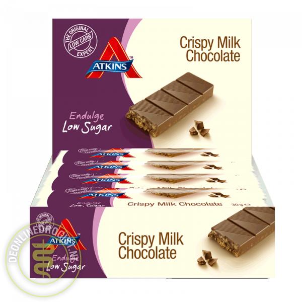 Atkins Endulge Reep Crispy Milk Chocolate Grootverpakking (15x30gr)