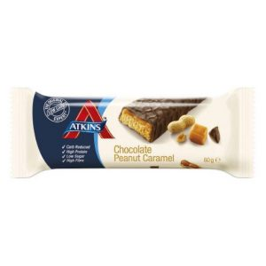 Atkins Reep Chocolate Peanut Caramel Grootverpakking (16x60gr)