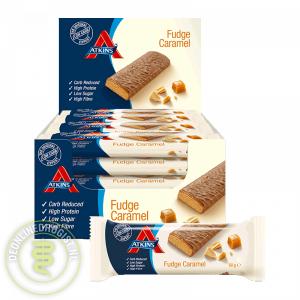 Atkins Reep Fudge Caramel Grootverpakking (16x60gr)
