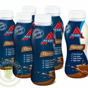 Atkins Shake Ready To Drink Chocolade Grootverpakking (6x330ml)