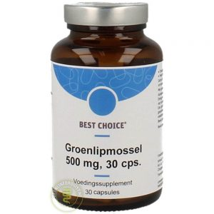 Best Choice Groenlipmossel 500mg Capsules