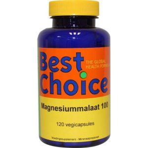 Best Choice Magnesium Malaat Capsules 120st
