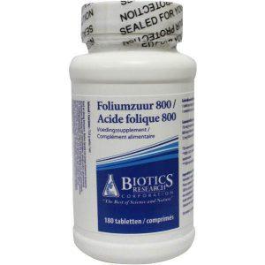 Biotics Foliumzuur 800mcg Tabletten