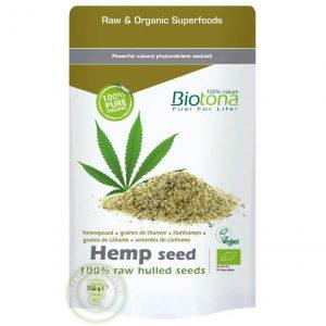Biotona 100% Raw Gepeld Hennepzaad