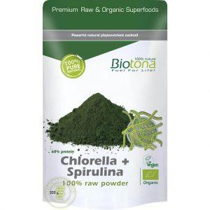 Biotona Chlorella + Spirulina Powder Raw