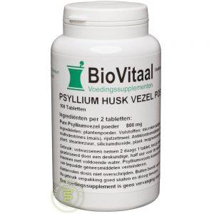Biovitaal Psyllium Husk Vezels 400mg Capsules 100st