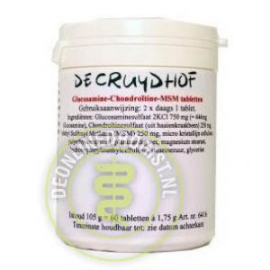 Cruydhof Glucosamine Chondroitine MSM Tabletten 120st