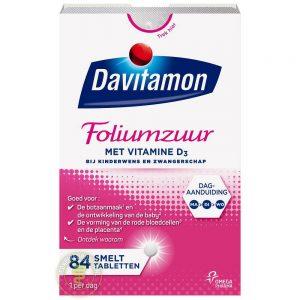 Davitamon Foliumzuur En Vitamine D Smelttabletten 84st