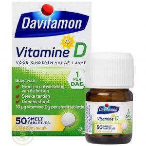 Davitamon Vitamine D Kind Smelttabletten 50st