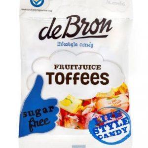 De Bron Fruitjuice Toffees Suikervrij