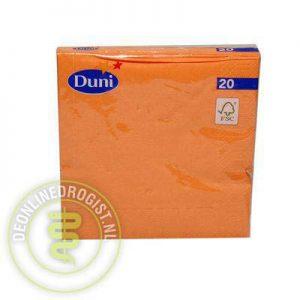 Duni Servet Oranje 20st