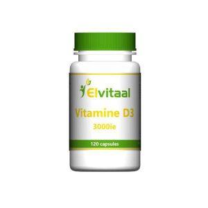 Elvitaal Vitamine D3 3000 IE Capsules 120st