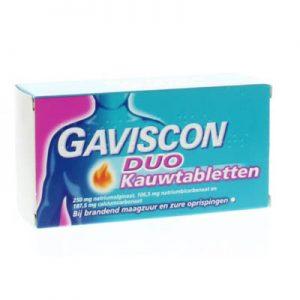 Gaviscon Duo Kauwtabletten 24st