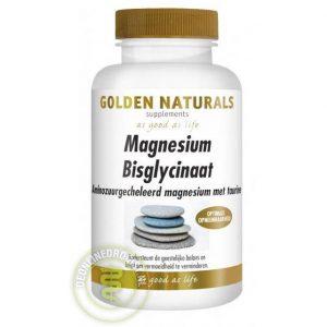 Golden Naturals Magnesium Bisglycinaat Tabletten 90st