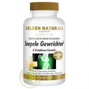 Golden Naturals Soepele Gewrichten & Kraakbeen Formule Tabletten 180st
