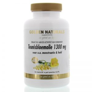 Golden Naturals Teunisbloemolie 1300mg Softgels 120st