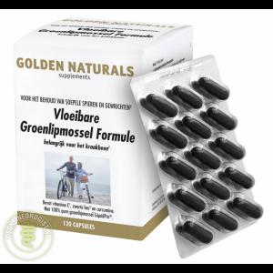 Golden Naturals Vloeibare Groenlipmossel Formule Capsules
