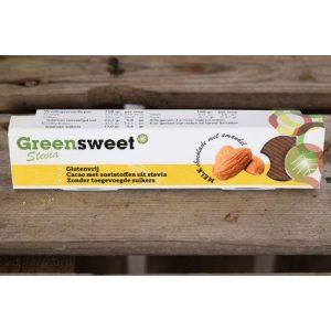 Greensweet Stevia Chocolade Melk Amandelen 42gr