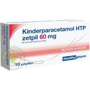 Healthypharm Paracetamol Zetpil 60mg