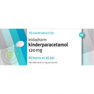 Leidapharm Kind Paracetamol Kauwtabletten 120mg 10st