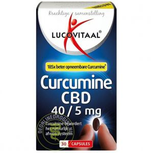 Lucovitaal Curcumine CBD 40/5mg Capsules