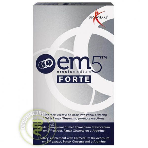 Lucovitaal EM5 Erectomedium Forte Capsules