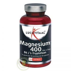 Lucovitaal Magnesium 400 met Vitamine B6 & L-Tryptofaan capsules