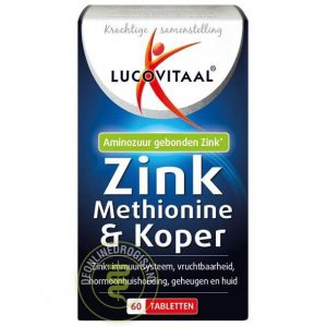 Lucovitaal Zink Methionine & Koper Tabletten