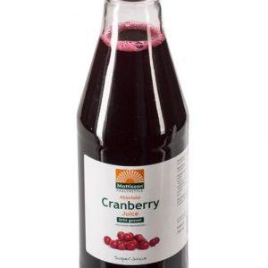 Mattisson HealthStyle Absolute Cranberry Sap Licht Gezoet 750ml