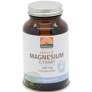 Mattisson HealthStyle Active Magnesium-Citraat 400mg Capsules 60st